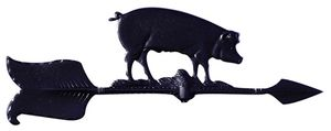 "Whitehall 24"" Accent Directions HOG Weathervane in Black"