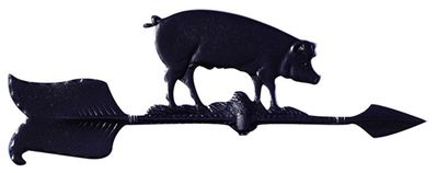 """Whitehall 24"""" Accent Directions HOG Weathervane in Black"""