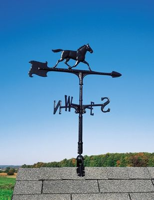 """Whitehall 24"""" Accent Directions HORSE Weathervane in Black"""