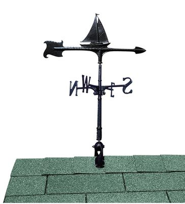 "Whitehall 24"" Accent Directions Maritime SAILBOAT Weathervane in Black"