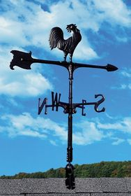 "Whitehall 30"" Accent Directions ROOSTER Weathervane in Black"