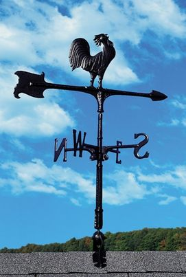 """Whitehall 24"""" Accent Directions ROOSTER Weathervane in Black"""
