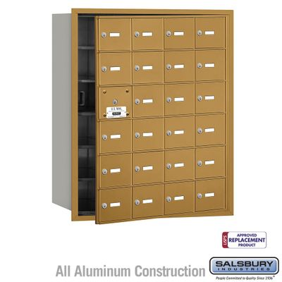 Salsbury 3624GFU 4B Mailboxes 23 Tenant Doors Front Loading - USPS Access