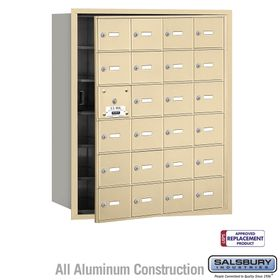 Salsbury 3624SFU 4B Mailboxes 23 Tenant Doors Front Loading - USPS Access