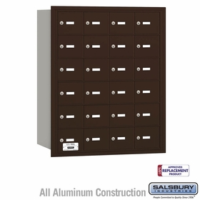 Salsbury 3624ZRU 4B Mailboxes 24 Tenant Doors Rear Loading - USPS Access
