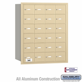 Salsbury 3624SRU 4B Mailboxes 24 Tenant Doors Rear Loading - USPS Access