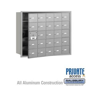 4B Mailboxes 25 Doors (24 Usable) Front Loading - Private Use