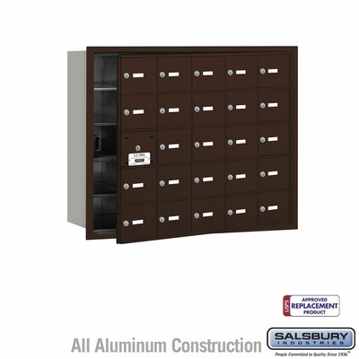 Salsbury 3625ZFU 4B Mailboxes 24 Tenant Doors Front Loading - USPS Access