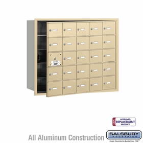 Salsbury 3625SFU 4B Mailboxes 24 Tenant Doors Front Loading - USPS Access