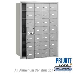 4B Mailboxes 28 Doors (27 Usable) Front Loading - Private Use