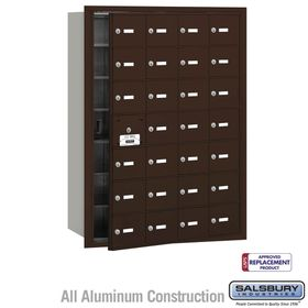Salsbury 3628ZFU 4B Mailboxes 27 Tenant Doors Front Loading - USPS Access
