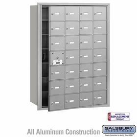 4B Mailboxes - 27 Tenant Doors - Front Loading