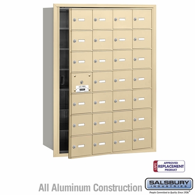 Salsbury 3628SFU 4B Mailboxes 27 Tenant Doors Front Loading - USPS Access