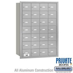 4B Mailboxes 28 Doors - Rear Loading - Private Use