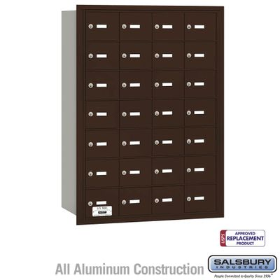 Salsbury 3628ZRU 4B Mailboxes 28 Tenant Doors Rear Loading - USPS Access