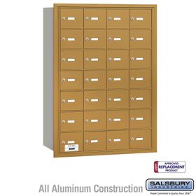 Salsbury 3628GRU 4B Mailboxes 28 Tenant Doors Rear Loading - USPS Access