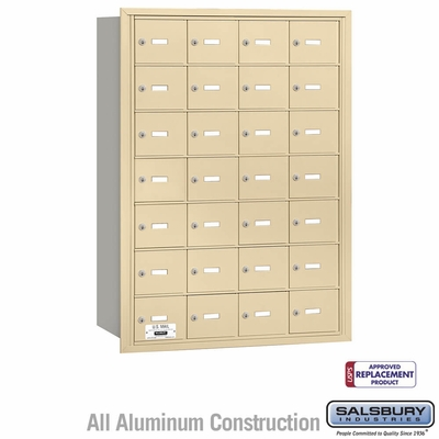 Salsbury 3628SRU 4B Mailboxes 28 Tenant Doors Rear Loading - USPS Access