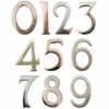 """3"""" Brass Numbers (Adhered to Address Plaque by Manufacturer)"""
