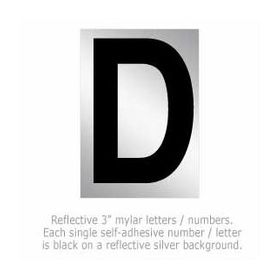 Salsbury 1215-D 3 Inch Reflective Letter D