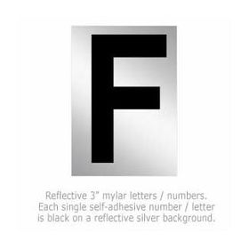 Salsbury 1215-F 3 Inch Reflective Letter F
