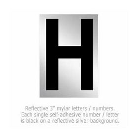 Salsbury 1215-H 3 Inch Reflective Letter H