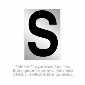 Salsbury 1215-S 3 Inch Reflective Letter S