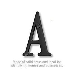 3 Inch Solid Brass - Black Finish Letters