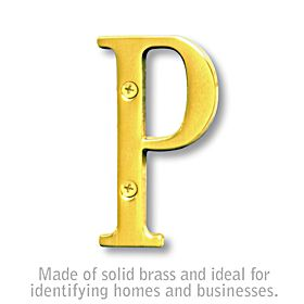 Salsbury 1240B-P 3 Inch Solid Brass Letter Brass Finish P