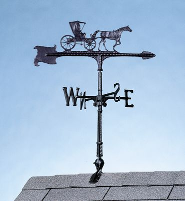 """Whitehall 30"""" Accent Directions COUNTRY DOCTOR Weathervane in Black"""