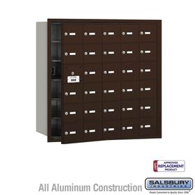 Salsbury 3630ZFU 4B Mailboxes 29 Tenant Doors Front Loading - USPS Access