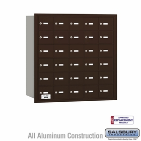 Salsbury 3630ZRU 4B Mailboxes 30 Tenant Doors Rear Loading - USPS Access