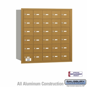 Salsbury 3630GRU 4B Mailboxes 30 Tenant Doors Rear Loading - USPS Access