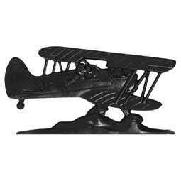 "Whitehall 30"" Traditional Directions AIRPLANE Weathervane in Black for Roof or Garden"