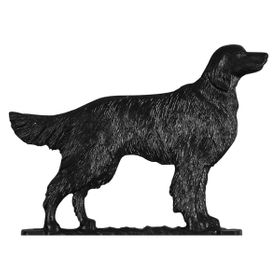 "Whitehall 30"" Traditional Directions GOLDEN RETRIEVER Weathervane in Black for Roof or Garden"