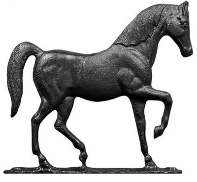 """Whitehall 30"""" Traditional Directions HORSE Weathervane in Black for Roof or Garden"""