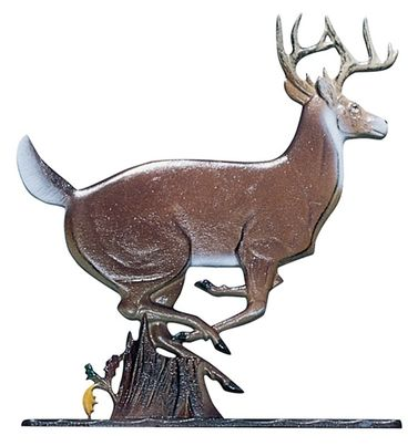 """Whitehall 30"""" Traditional Directions Life-Like MultiColor BUCK Weathervane for Roof or Garden"""
