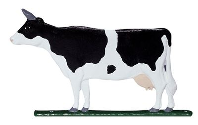 """Whitehall 30"""" Traditional Directions Life-Like MultiColor COW Weathervane for Roof or Garden"""