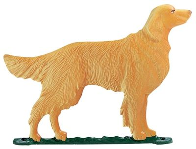 """Whitehall 30"""" Traditional Directions Life-like MultiColor GOLDEN RETRIEVER Weathervane for Roof or Garden"""