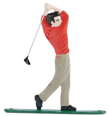 """Whitehall 30"""" Traditional Directions Life-Like MultiColor Golfer Weathervane for Roof or Garden"""