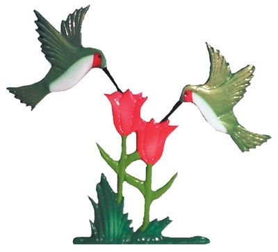 """Whitehall 30"""" Traditional Directions Life-like MultiColor Hummingbirds Weathervane for Roof or Garden"""
