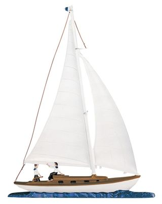 """Whitehall 30"""" Traditional Directions Life-Like MultiColor Maritime SAILBOAT Weathervane for Roof or Garden"""