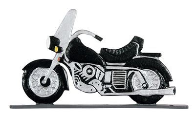 """Whitehall 30"""" Traditional Directions Life-Like MultiColor MOTORCYCLE Weathervane for Roof or Garden"""