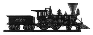 "Whitehall 30"" Traditional Directions LOCOMOTIVE Weathervane in Black for Roof or Garden"