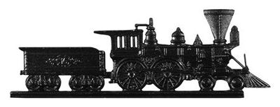 """Whitehall 30"""" Traditional Directions LOCOMOTIVE Weathervane in Black for Roof or Garden"""