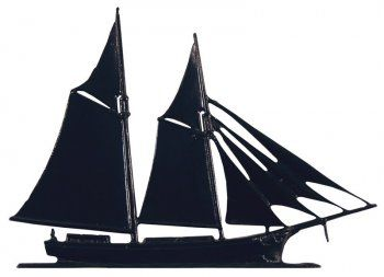 """Whitehall 30"""" Traditional Directions Maritime SCHOONER Weathervane in Black for Roof or Garden"""