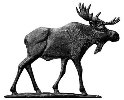 """Whitehall 30"""" Traditional Directions MOOSE Weathervane in Black for Roof or Garden"""