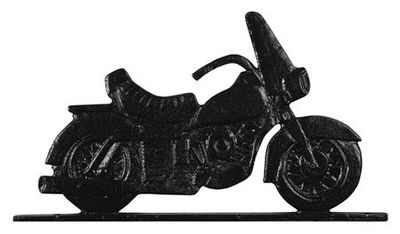 """Whitehall 30"""" Traditional Directions MOTORCYCLE Weathervane in Black for Roof or Garden"""