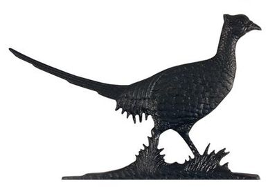 """Whitehall 30"""" Traditional Directions PHEASANT Weathervane in Black for Roof or Garden"""