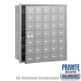 4B Mailboxes 35 Doors (34 Usable) Front Loading - Private Use
