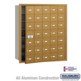 Salsbury 3635GFU 4B Mailboxes 34 Tenant Doors Front Loading - USPS Access